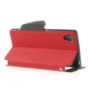 Okýnkové pouzdro na mobil Sony Xperia Z1 - červené - 4