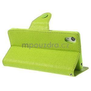Stylové peněženkové pouzdro na Sony Xperia Z2 - zelené - 4