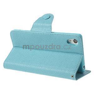 Stylové peněženkové pouzdro na Sony Xperia Z2 - světle modré - 4