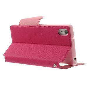 Okýnkové pouzdro na mobil Sony Xperia Z2 - rose - 4