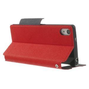 Okýnkové pouzdro na mobil Sony Xperia Z2 - červené - 4