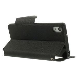 Okýnkové pouzdro na mobil Sony Xperia Z2 - černé - 4