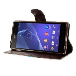 Květinové pouzdro na mobil Sony Xperia Z2 - bílé - 4