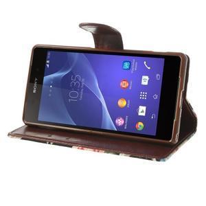 Květinové pouzdro na mobil Sony Xperia Z2 - černé - 4
