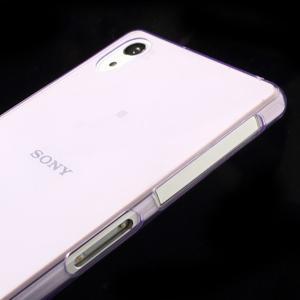 Ultratenký slim gelový obal na mobil Sony Xperia Z2 - fialový - 4