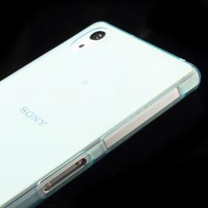 Ultratenký slim gelový obal na mobil Sony Xperia Z2 - cyan - 4