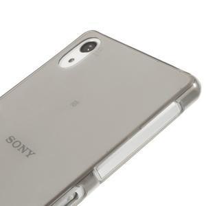 Ultratenký slim gelový obal na mobil Sony Xperia Z2 - šedý - 4