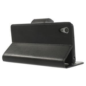 Sonata PU kožené pouzdro na mobil Sony Xperia Z2 - černé - 4