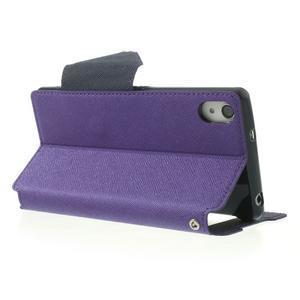 Okýnkové pouzdro na mobil Sony Xperia Z2 - fialové - 4