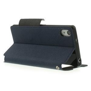 Okýnkové pouzdro na mobil Sony Xperia Z2 - tmavěmodré - 4
