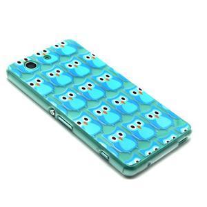 Gelový obal na mobil Sony Xperia Z3 Compact - modré sovičky - 4