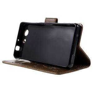 Butterfly PU kožené pouzdro na mobil Sony Xperia Z3 Compact - coffee - 4