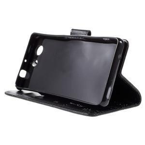 Butterfly PU kožené pouzdro na mobil Sony Xperia Z3 Compact - černé - 4