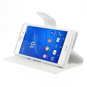 Sonata PU kožené pouzdro na mobil Sony Xperia Z3 - bílé - 4