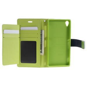 Luxury PU kožené pouzdro na mobil Sony Xperia Z3 - tmavěmodré - 4