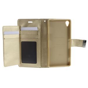 Luxury PU kožené pouzdro na mobil Sony Xperia Z3 - champagne - 4
