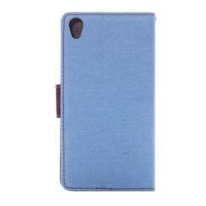 Jeans knížkové pouzdro na mobil Sony Xperia Z3 - světlemodré - 4