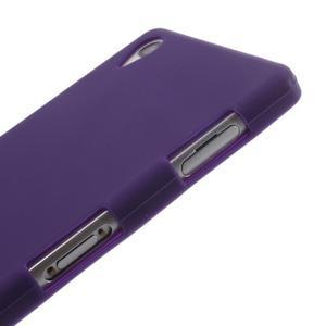 Silikonový obal na mobil Sony Xperia Z3 - fialový - 4
