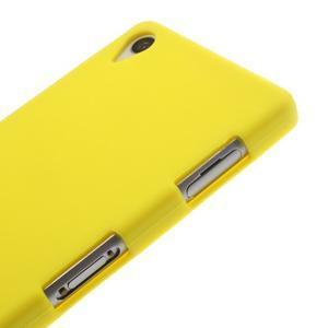 Silikonový obal na mobil Sony Xperia Z3 - žlutý - 4