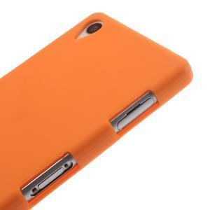 Silikonový obal na mobil Sony Xperia Z3 - oranžový - 4
