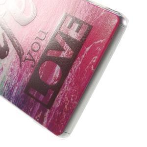 Ultratenký gelový obal na mobil Sony Xperia Z3 - love - 4