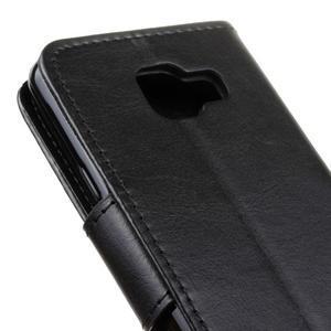 Hoor PU kožené pouzdro na mobil Samsung Galaxy A3 (2016) - černé - 4