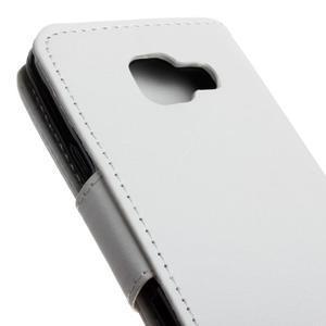 Hoor PU kožené pouzdro na mobil Samsung Galaxy A3 (2016) - bílé - 4