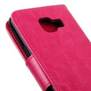 Hoor PU kožené pouzdro na mobil Samsung Galaxy A3 (2016) - rose - 4