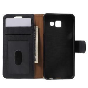 Cloth peněženkové pouzdro na mobil Samsung Galaxy A3 (2016) - černé - 4