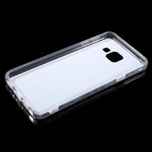 Zrcadlový gelový kryt na Samsung Galaxy A3 (2016) - stříbrný - 4