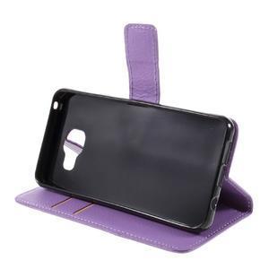 Liched koženkové pouzdro na Samsung Galaxy A3 (2016) - fialové - 4