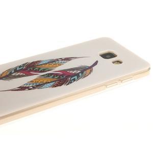 Silk gelový kryt na mobil Samsung Galaxy A3 (2016) - peříčka - 4