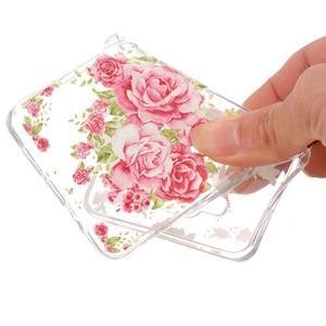 Slim průhledný gelový obal na Samsung Galaxy A3 (2016) - růže - 4