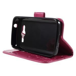 Butterfly pouzdro na mobil Samsung Galaxy Trend 2 Lite - rose - 4