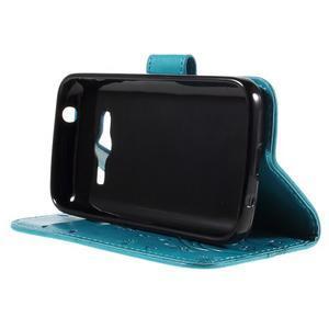 Butterfly pouzdro na mobil Samsung Galaxy Trend 2 Lite - modré - 4