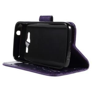 Butterfly pouzdro na mobil Samsung Galaxy Trend 2 Lite - fialové - 4
