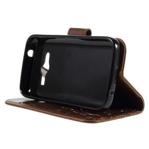 Butterfly pouzdro na mobil Samsung Galaxy Trend 2 Lite - hnědé - 4