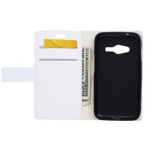 Croco peněženkové pouzdro na Samsung Galaxy Trend 2 Lite - bílé - 4