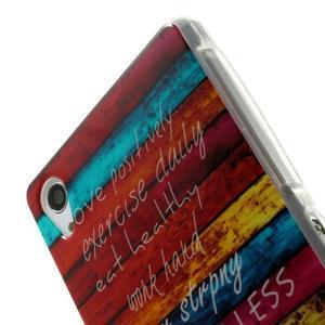 Emotive gelový obal na Sony Xperia Z2 - barvy dřeva - 4