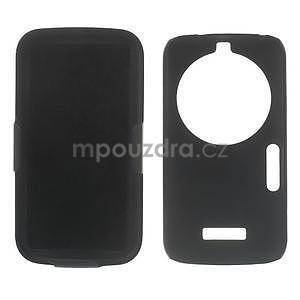 Odolný pogumovaný kryt se stojánkem na Samsung Galaxy K Zoom - černý - 4