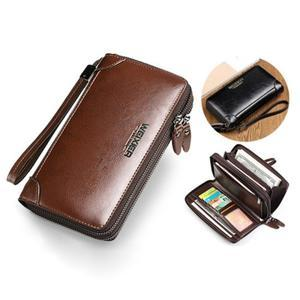 Weix peněženka z pravé kůže s přihrádkami - hnědá - 4