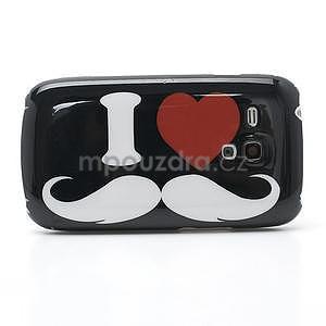 Plastový obal na Samsung Galaxy S3 mini - I love Moustache - 4