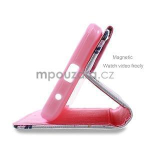 Stylové pouzdro na mobil Huawei Ascend Y550 - květy - 4