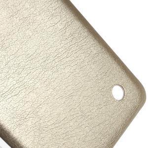 Gelový obal s jemnou koženkou na Microsoft Lumia 550 - zlatý - 4