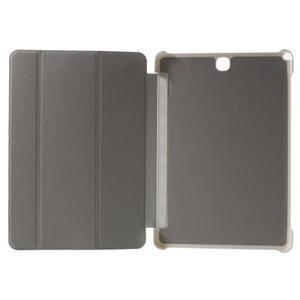 Trifold polohovatelné pouzdro na Samsung Galaxy Tab A 9.7 - bílé - 4