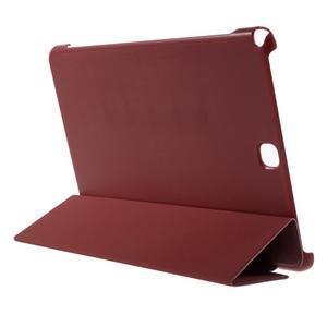 Trifold polohovatelné pouzdro na Samsung Galaxy Tab A 9.7 - červené - 4