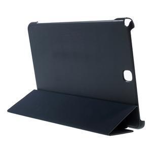 Trifold polohovatelné pouzdro na Samsung Galaxy Tab A 9.7 - tmavěmodré - 4