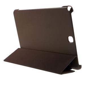 Trifold polohovatelné pouzdro na Samsung Galaxy Tab A 9.7 - hnědé - 4