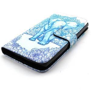 Peneženkové pouzdro na mobil LG G4c - slon - 4