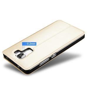 Elegantní PU kožené pouzdro na mobil Huawei Honor 7 - růžové - 4